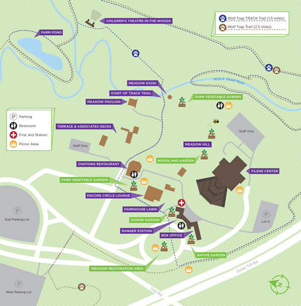 Wolf Trap National Park Map