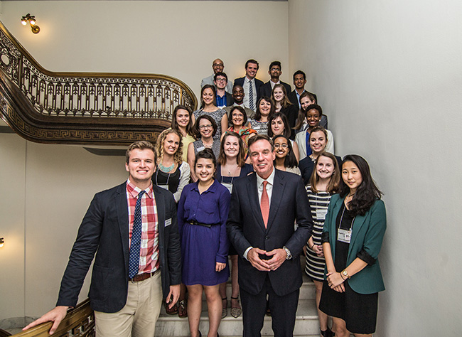 2015 summer interns visit Capitol Hill