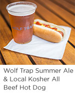 Summer Ale and Hot Dog