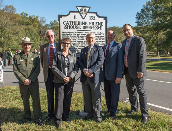 Wolf Trap Founder Catherine Filene Shouse's Historical Marker